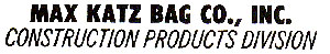Max Katz Bag Logo